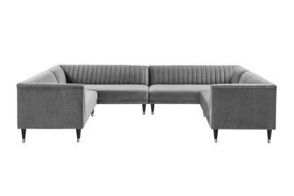 An Image of Baxter Super Lounge suite – Dove Grey