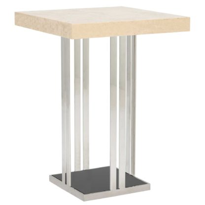 An Image of Elba Square Bar Table, Marble