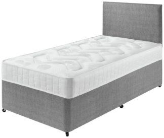 An Image of Argos Home Elmdon Deep Ortho Single Divan Bed - Grey