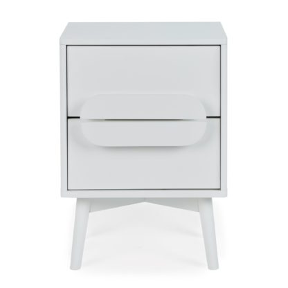 An Image of Anders 2 Drawer Bedside Table White