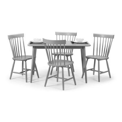 An Image of Torino Table & 4 Chairs Grey