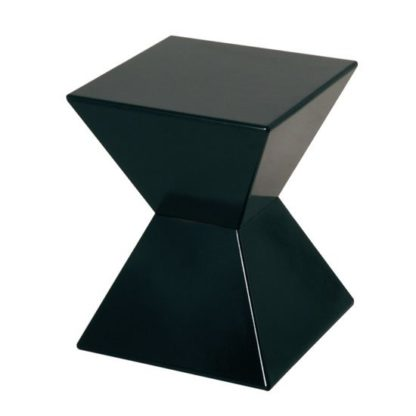 An Image of Edge Funky End Table In Black High Gloss Lacquered