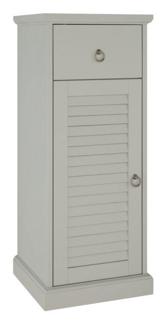 An Image of Argos Home Le Marais Louvered Single Unit- Grey