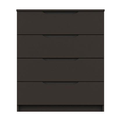 An Image of Legato Graphite 4 Drawer Chest Black