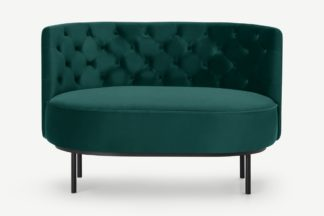 An Image of Ethel Loveseat, Seafoam Blue Velvet