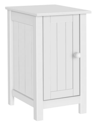 An Image of Habitat Scandinavia Slim Bedside Table - White