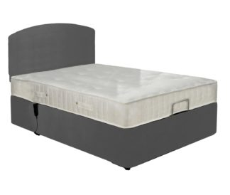 An Image of MiBed Berrington Adjustable Double Bed Frame with Guard