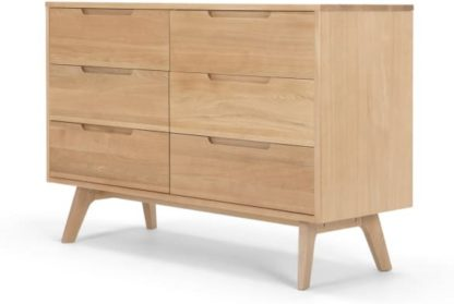 An Image of Jenson Wide Chest of Drawers, Oak