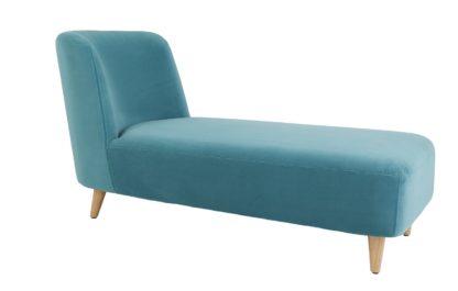An Image of Habitat Daisy Velvet Chaise Sofa - Teal
