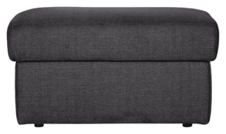 An Image of Argos Home Milano Fabric Storage Footstool - Charcoal
