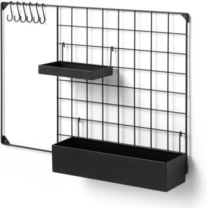 An Image of Moss Wall Mounted Kitchen Storage, Medium, Black