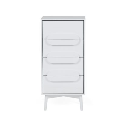 An Image of Anders 4 Drawer Tallboy White