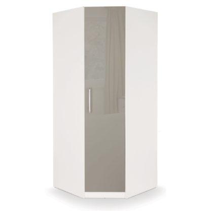 An Image of Bayswater Corner Wardrobe Grey