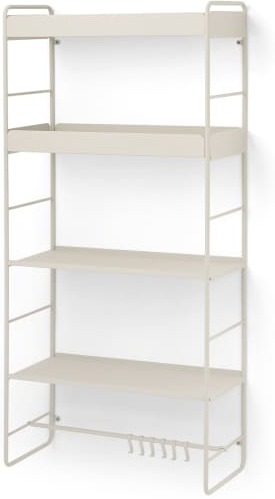 An Image of Isolde 4 Tier Interchangeable Wall Mounted Storage Unit, Putty