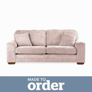 An Image of Morello 3 Seater Sofa Luxury Chenille Premium Chenille Rosewood