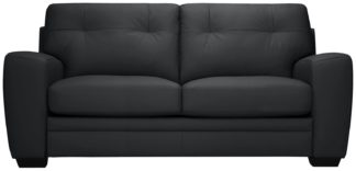 An Image of Argos Home Raphael 2 Seater Leather Mix Sofa bed - Black