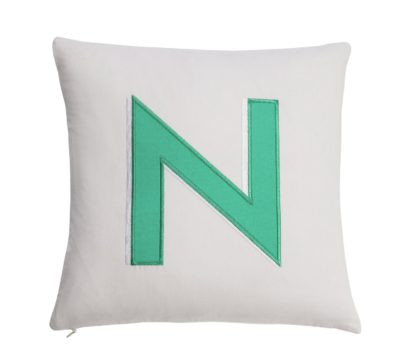An Image of Argos Home Letter N Cushion
