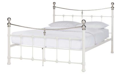 An Image of Argos Home Jayna Kingsize Metal Bed Frame - Black