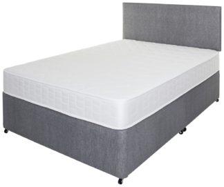 An Image of Argos Home Elmdon Memory Double Divan Bed - Grey