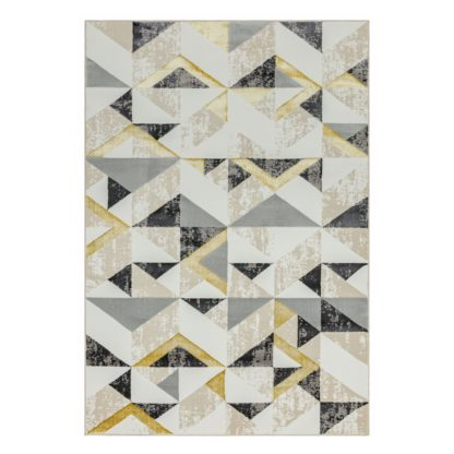 An Image of Asiatic Orion Abstract Rectangle Rug - 80x150cm - Grey