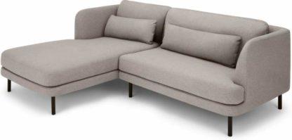 An Image of Herman Left Hand Facing Chaise End Corner Sofa, Manhattan Grey