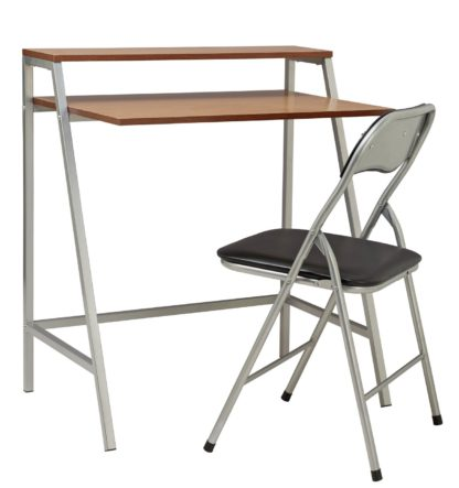 An Image of Habitat Office Desk and Chair Set - Black