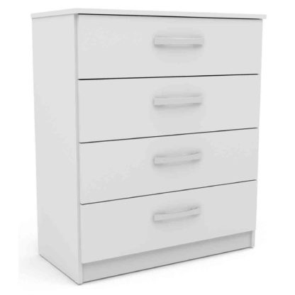 An Image of Lynx White 4 Drawer Chest Grey/White