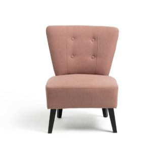 An Image of Habitat Delilah Fabric Cocktail Chair - Pink
