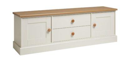 An Image of Habitat Winchester 2 Door 2 Drawer TV Unit- White
