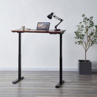 An Image of Apollo Walnut Effect Adjustable Standing Smart Desk Walnut (Brown)