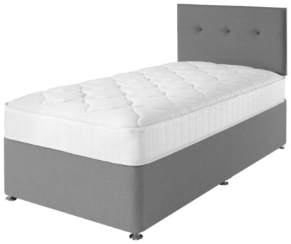 An Image of Argos Home Dalham Memory Grey Divan - Single