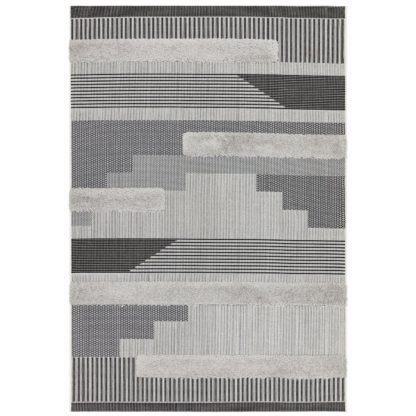 An Image of Asiatic Monty In and Outdoor Rug - 120x170cm - Black & Grey