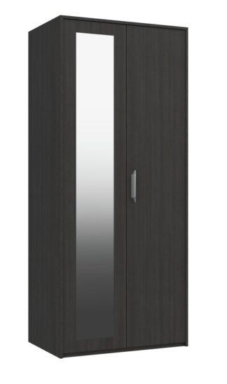 An Image of Ashdown 2 Door Mirror Wardrobe - Dark Grey