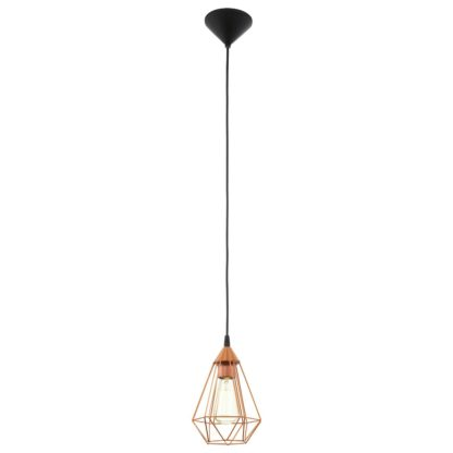 An Image of Eglo Tarbes Pendant Light - Copper