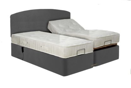 An Image of MiBed Berrington Adjustable Kingsize Bed Frame with Guard