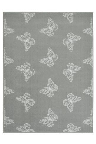 An Image of Homemaker Adorn Flutter Rug - 80x150cm - Grey