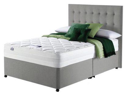 An Image of Silentnight Knightly 2000 Luxury Kingsize Divan Bed - Grey