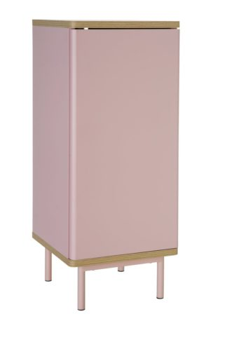 An Image of Habitat Freja 1 Door Cabinet - Pink