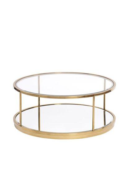 An Image of Rippon Brass Circular Coffee Table