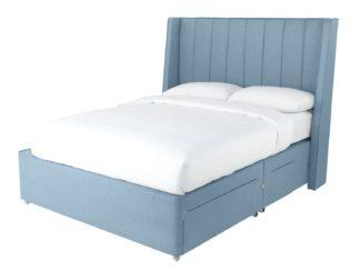 An Image of Sleepeezee 2000 Hybrid Double 4 Drawer Divan - Blue