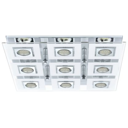 An Image of Eglo Cabo 9 Point Square LED Ceiling Light