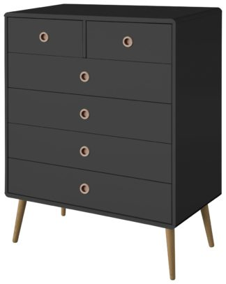 An Image of Softline 4+2 Drawer Chest of Drawers - Black