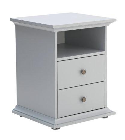 An Image of Habitat Heathland 2 Drawer Bedside Table - Grey