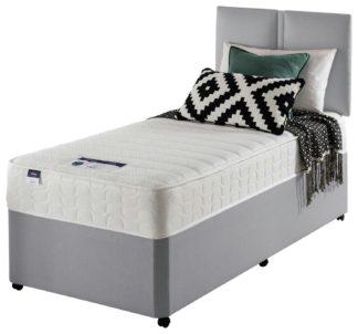 An Image of Silentnight Hatfield Memory Single Divan Bed - Grey