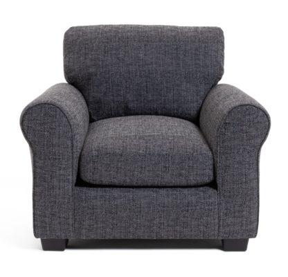 An Image of Habitat Lisbon Fabric Armchair - Charcoal