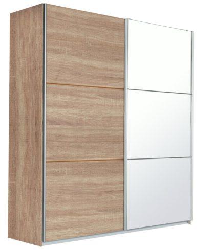 An Image of Habitat Holsted Oak Effect & Mirror Wardrobe
