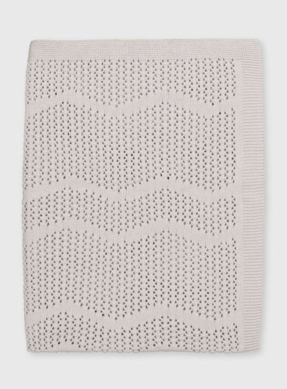 An Image of White Organic Cotton Blanket - One Size