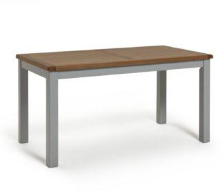An Image of Habitat Kent 6 Seater Veneer Dining Table - Light Grey