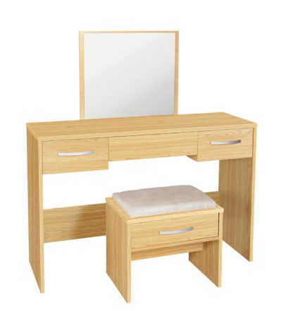 An Image of Argos Home Hallingford Dressing Table - Oak Effect