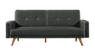 An Image of Habitat Frankie 2 Seater Clic Clac Sofa Bed - Charcoal